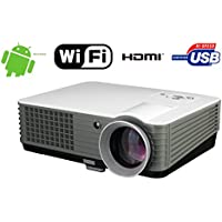 FR S88A Home Use Wireless 4000 Lumen Android WIFI 1080P FULL HD Supported Home Cinema Multimedia up to 150 Image Size USB VGA HDMI LED Video Movie Projector