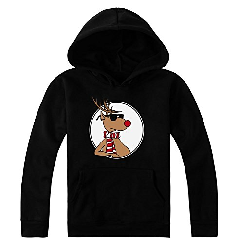 Cool Portrait Of Rudolph The Red Nosed Reindeer Women's Hoodie Pullover