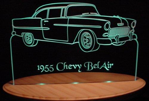 1955 Chevy BelAir 2 Door Acrylic Lighted Edge Lit 13