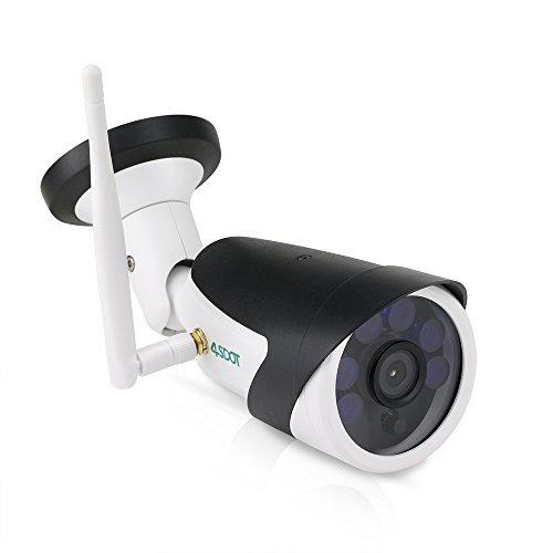 "Outdoor Security Camera,1/4""CMOS WIFi Camera Outdoor,720P Wireless IP Camera with IR Night Vision,Surveillance..."