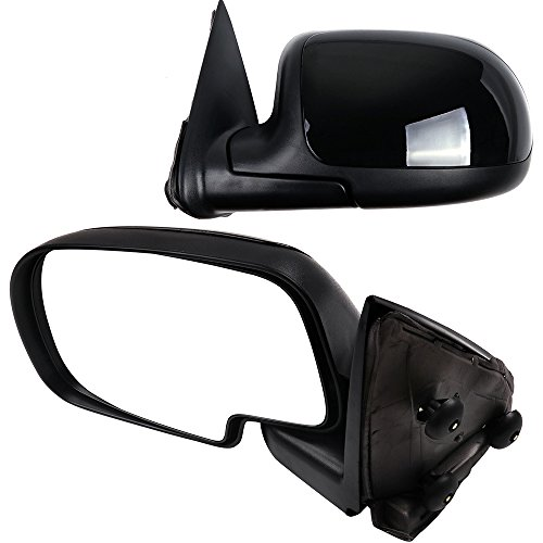 SCITOO Compatible fit for Pair Door Mirrors 1999-2006 Chevrolet Silverado Suburban Tahoe GMC Sierra Yukon Manual Adjusted Folding Side Mirrors (1999-2000 New Body Style 2007 Classic)