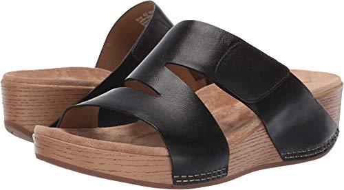 Dansko New Women's Lacee Slide Sandal Black Burnished Calf 38 (Shoe Parlor)