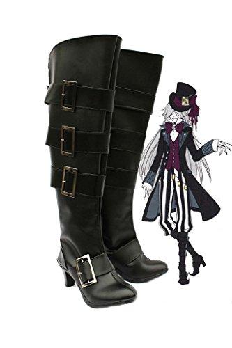 Black Butler Kuroshitsuji Undertaker Cosplay Shoes Boots Custom Made 4