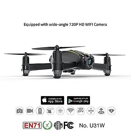 Fytoo U31W RC Drone 2.4Ghz WiFi y FPV Drone con cámara HD (1280 x ...
