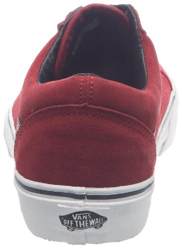 Vans U Old Skool, Baskets mode mixte adulte Rouge ((Dvlwrsprda)Blk)