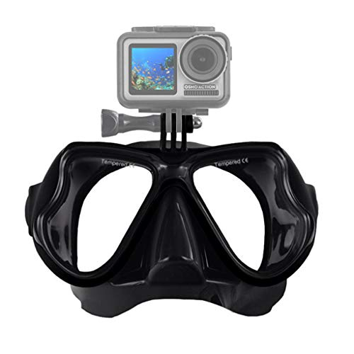 Sodoop for DJI Osmo Action Camera Diving Mask,New Professional Underwater Camera Diving Masks, Scuba Snorkel Swimming Goggles for GoPro Xiaomi for SJCAM Sport Cameras (Black)