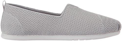 Skechers Bobs Womens Plush Lite Flat Grey Sparkle