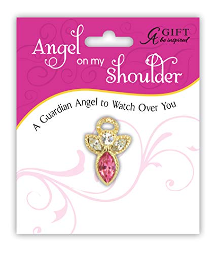 (Cathedral Art Birthstone Pin-October Rose, Multicolored)