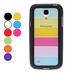 Transparent Colorful Pattern Hard Case,Screen Protector for Samsung Galaxy S4 mini I9190 (Assorted Colors) --- COLOR:Purple