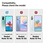 Spigen Thermoplastic Polyurethane Rugged Armor Back Cover Case Compatible with Redmi Note 10 and Redmi Note 10s – Matte…