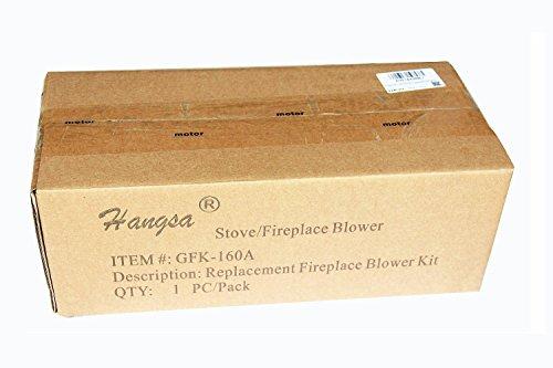 Hongso GFK-160 GFK-160A GFK160 Replacement Fireplace Blower KIT Heat N Glow GFK-160A; Regency Wood Stove Insert 846515; Royal GFK-160; Jakel; Rotom # R7-RB168 (16Y
