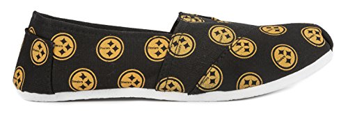 2015 Slip Summer Collectibles Canvas Womens NFL Ladies Football Steelers Shoes Pittsburgh On Team Pick Forever 5dgnawq0a