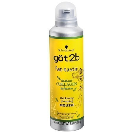 Schwarzkopf Got2b Fat-tastic Instant Collagen Infusion Thickening Plumping Mousse - Net Wt. 250ml (240 g) - by Schwarzkopf by GOT 2B (Got Net)