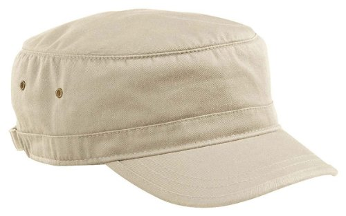 nic Cotton Twill Adjustable Corps Hat (Oyster) (Bio Washed Twill Cap)