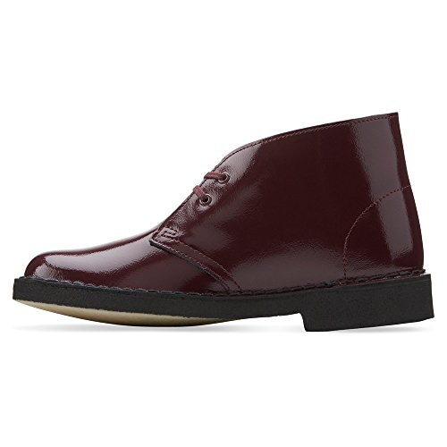 Clarks Desert Boot Lace-up Boot Wine Patent