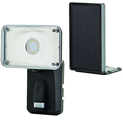 Heath/Zenith HZ-1931-BK LED Solar Panel 110 DEG Security Lighting, Black