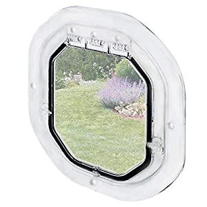Pet-Tek Glass Fitting Dog Door, White Click on image for further info.