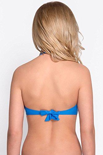 Vivisence 3211 Top De Bikini Con Relleno Atado Para Mujeres Tirantes Extraíbles - Hecho En La UE Azul