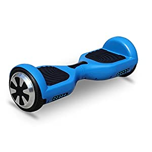 VEEKO Hoverboard Two-wheel Self-balancing Scooter-UL2272 Certified 6.5'' All-terrian Aluminum Alloy Wheels,350W Dual Motor for 9.6Km/hr Max Speed and 225lbs Max Weight (Blue)