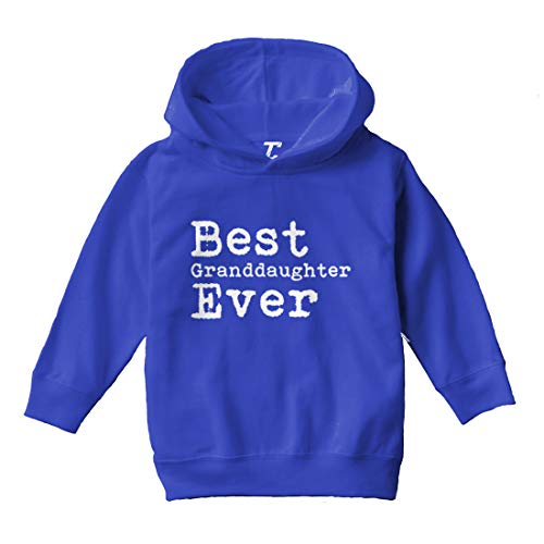 Tcombo Best Granddaughter Ever - Birthday Gift Toddler/Youth Fleece Hoodie (Royal Blue, 4T (Toddler))