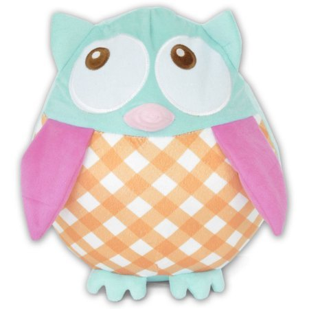 Kids Plaid Owl Pillow, soft and cuddly