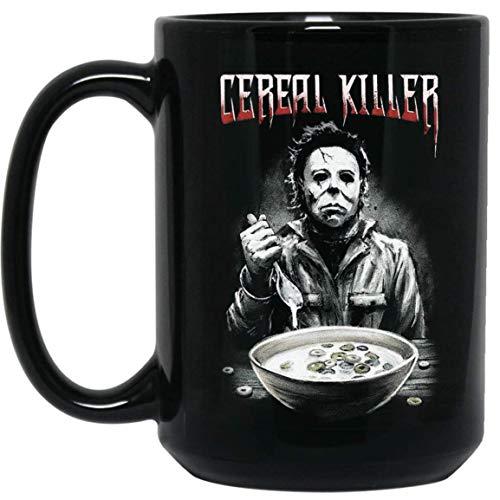 Michael Myers Cereal Killer Horror Funny Halloween Costume Mug Ceramic 15oz Coffee Tea Cup