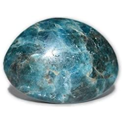 Nature's Enlightenment Blue Apatite Palm Crystal - Crystal Energy, Protection, Reiki, Wicca, Pagan, Energy, Meditation, Chakra Cleansing