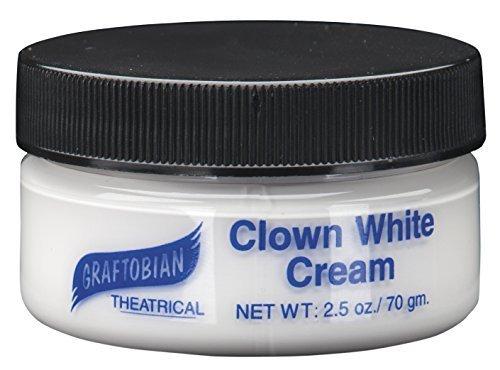 Clown White Cream 2.5 oz. by Graftobian by Graftobian