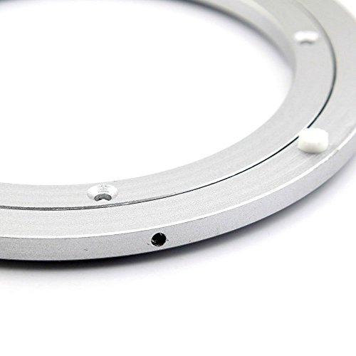 t b 8 inch diameter aluminum metal lazy susan hardware rotating turntable bearings swivel plate. Black Bedroom Furniture Sets. Home Design Ideas