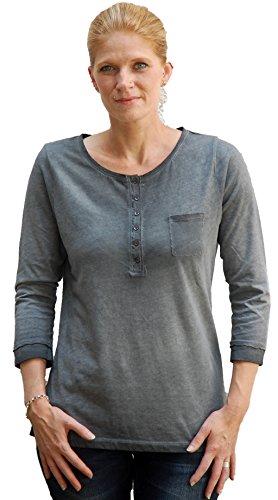 XOX, camiseta para mujer, 3/4arm, en 2colores, x00261 Asfalto