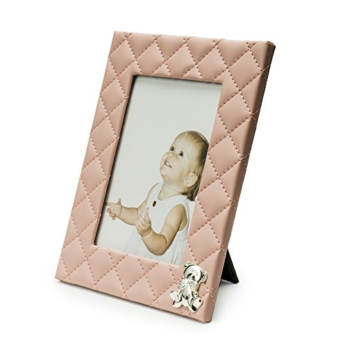 Modali Baby Fine & Elegant Pink Faux Leather Photo frame 5x7