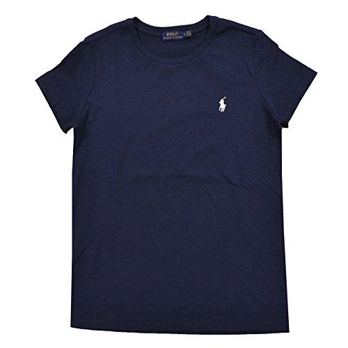 Polo Ralph Lauren Womens Crew Neck Jersey T-Shirt (XL, Rl Navy Blue)