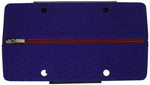 O bag Damen Chiusura Street Feltro Handtasche, Mehrfarbig (Bicolor Bord/Blu), 21.5 x 10.5 x 13 cm