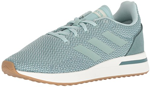adidas Women's Run70S Running Shoe ash raw Green, 5.5 M US