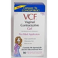 VCF Vaginal Contraceptive Gel, 10 Pre-Filled Applicators by VCF