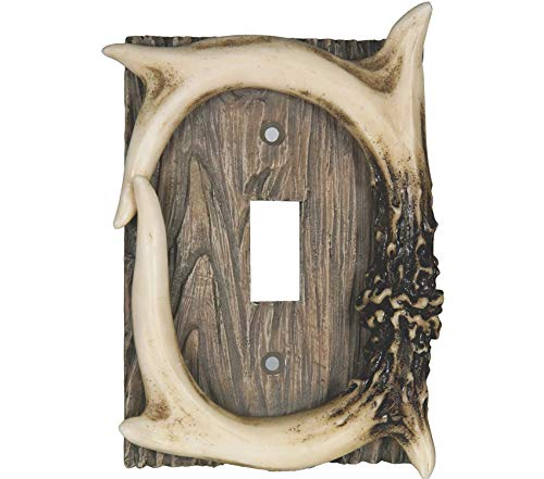 Rivеr's Еdgе Prоducts Premium Deer Antler Single Switch Cover