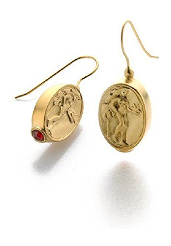 'Classics' Greece C. 480 B. C. Goddess Aphrodite Coin Drop Earrings, 1.25