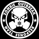 zombie laptop decal - Zombie Response Team Zombies Vinyl Decal Sticker|WHITE|Cars Trucks Vans SUV Laptops Wall Art|5