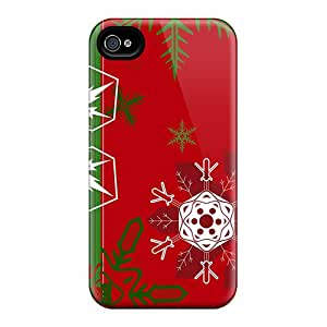 Fashion Tpu Case For Iphone 4/4s- Red Green Background Defender Case Cover