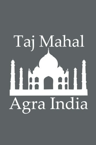 Mahal Slate - Taj Mahal in Agra India - Lined Notebook with Slate Grey Cover: 101 Pages, Medium Ruled, 6 x 9 Journal, Soft Cover