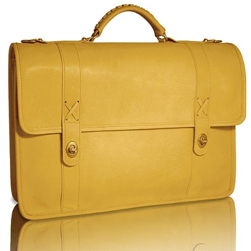 Leather Baseball Briefcase (Jack Georges Baseball Double Gusset Flap Over with-As Shown)
