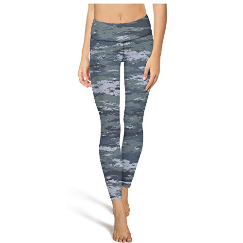 Army Camo Camouflage Military Leggins High Waisted Yoga Pants Training Dressy Footless Legging Fit Comfort