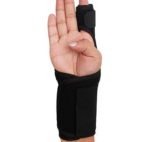 Lolicute Index Finger Splint,Extension Hand Splint Medical Enhanced Thumb Fixed Sleeve Breathable Protective Wrist Cover Brace for Trigger/Mallet Finger, Rheumatoid Arthritis or Fractured Pain Relief