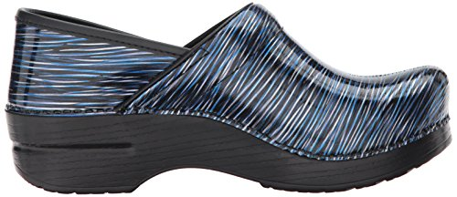 Dansko Professional, Zoccoli Donna Marrone Wheat Nubuck Leather, (Wavy Stripes Patent), 36,5-37 EU