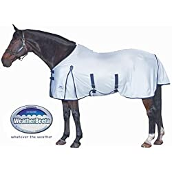 WeatherBeeta Airflow Standard Neck Fly Sheet - Size:75 Color:Silver/Navy/White