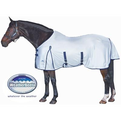 WeatherBeeta Airflow Standard Neck Fly Sheet - Size:81 Color:White/Black/Red