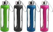 Estilo EST0262 Botella de Agua de Vidrio, 20 oz, 4 piezas