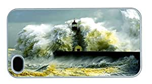 Hipster amazing iPhone 4 covers shore lighthouse surf PC White for Apple iPhone 4/4S