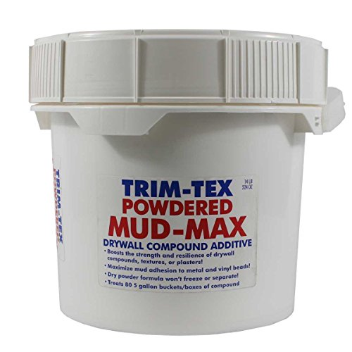 Trim-Tex Drywall Mud-Max Compound Additive Powder 25 lbs  (Treats 80  Buckets of Mud) - Improves Strength, Durability, Resilience of Compounds,