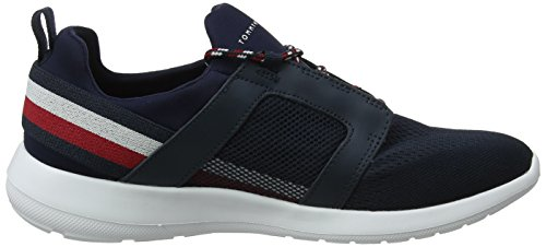 403 Mix Material Azul midnight Para Sneaker Hilfiger Tommy Hombre Technical Zapatillas 6qtTpvw